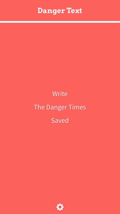 Danger Text