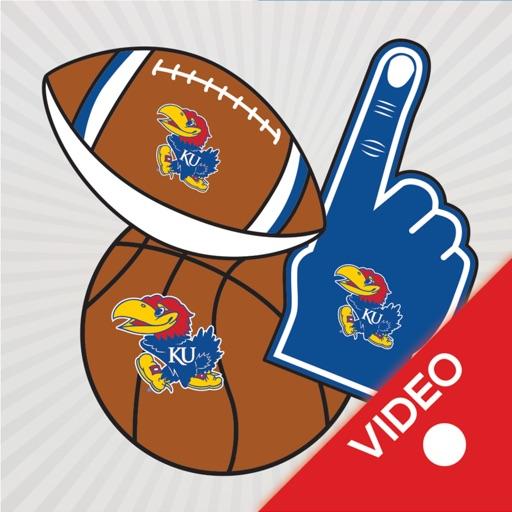 Kansas JayHawks Animated Selfie Stickers