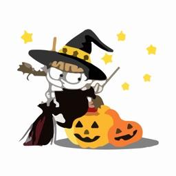 Scary Witch Halloween Sticker