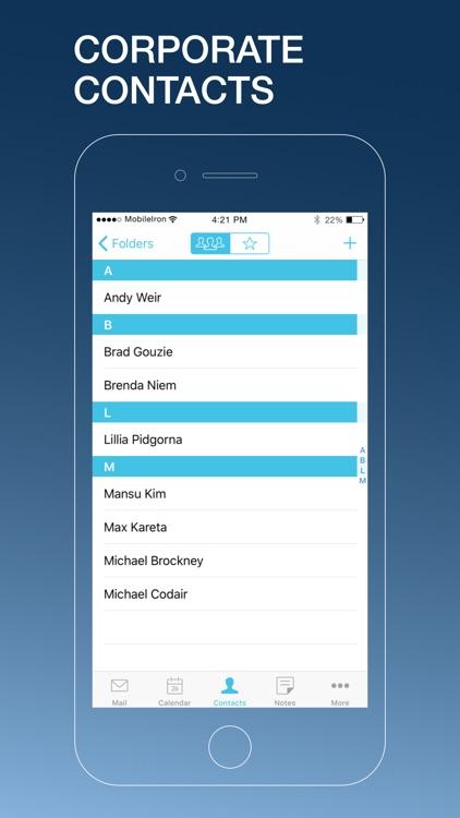 MobileIron Email+ screenshot-3