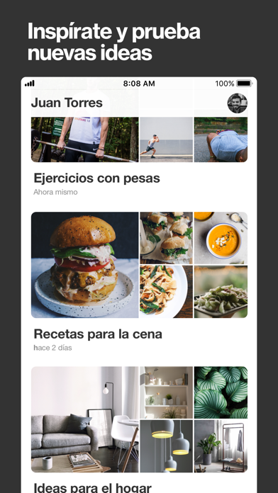 Screenshot for Pinterest in Spain App Store