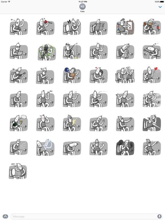 Love of Funny Couple Sticker screenshot 4