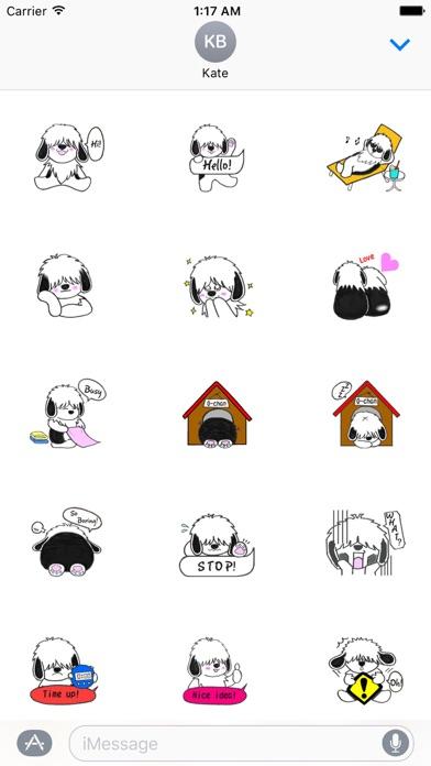 Shaggy Dog ShaggyMoji Sticker screenshot 1