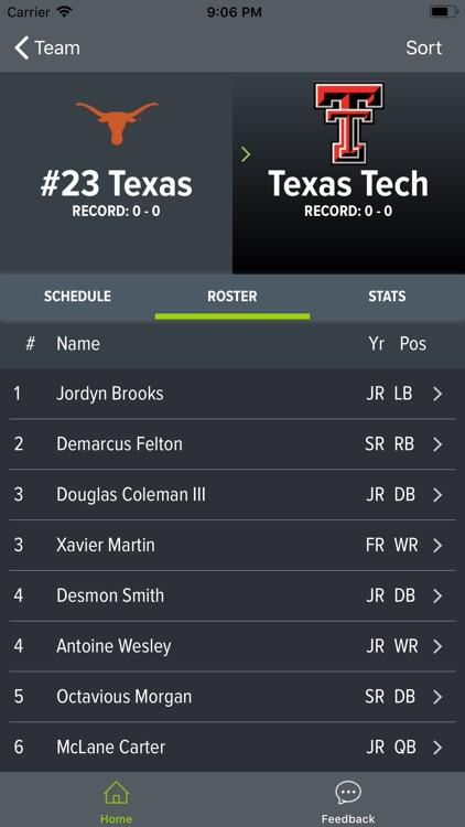Texas Football 2018 screenshot-8