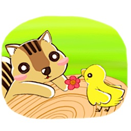 Adorable Chipmunk Sticker