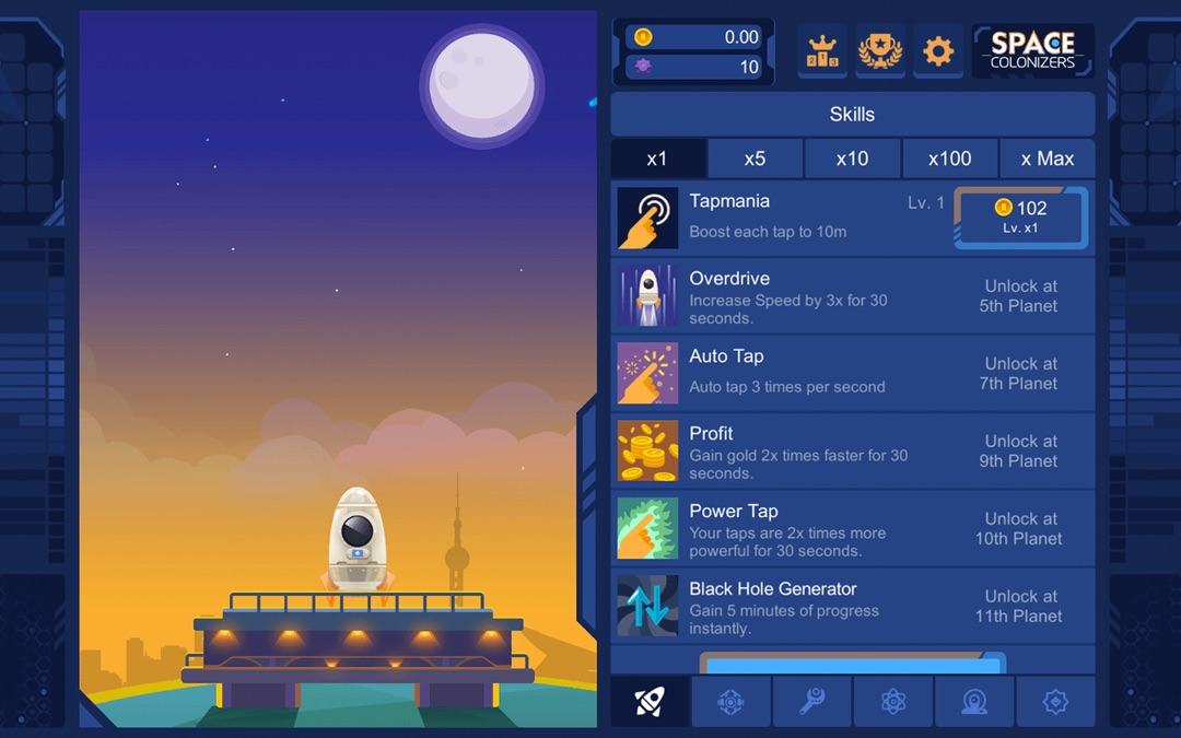 3 Minutes to Hack Space Colonizers Idle Clicker - Unlimited
