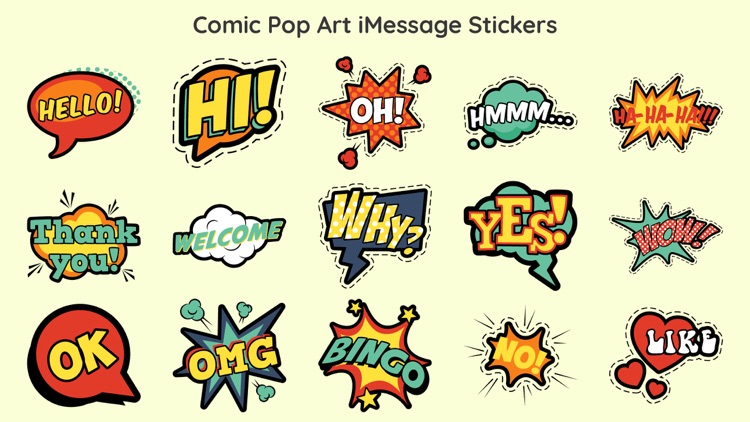 Comic Boom Pop Art Sticker App