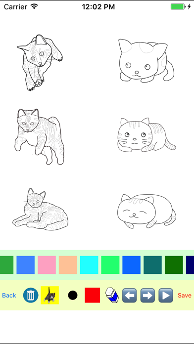 Kitten Cat Moves Coloring Book screenshot three