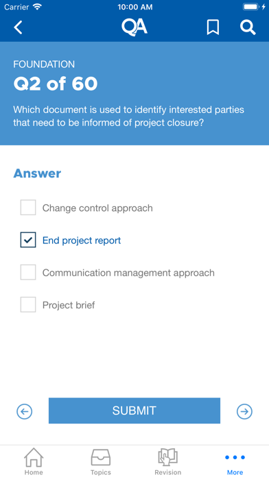 QA PRINCE2® Accelerator screenshot four