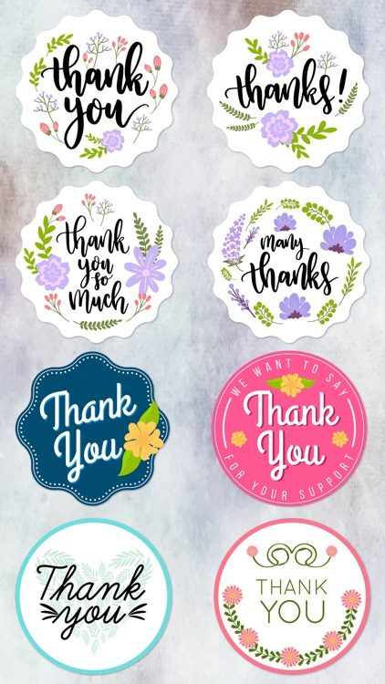 Thank You Labels Set in Minimal & Vintage Style