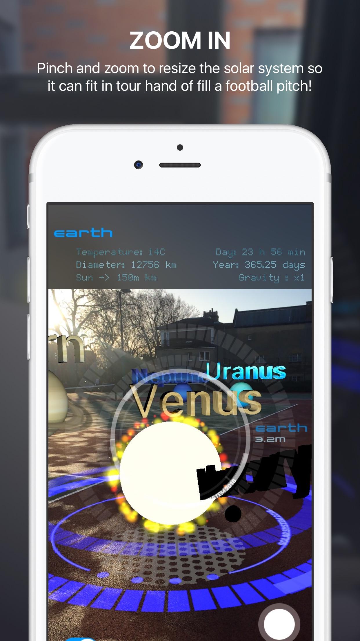 Screenshot do app solAR System Augmented Reality