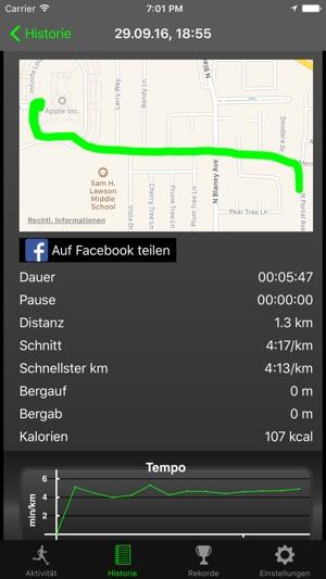 Fitmeter Run Screenshot