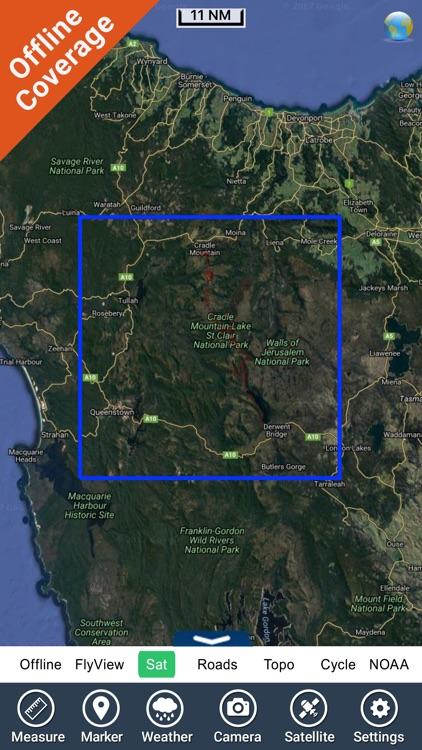 Cradle Mountain-Lake St Clair NP GPS outdoor map screenshot-4