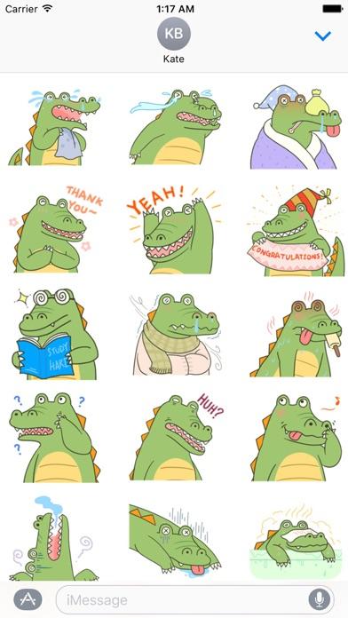 Cute Crocodile Emoji Sticker Screenshot