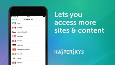 Kaspersky VPN Connection Screenshot on iOS