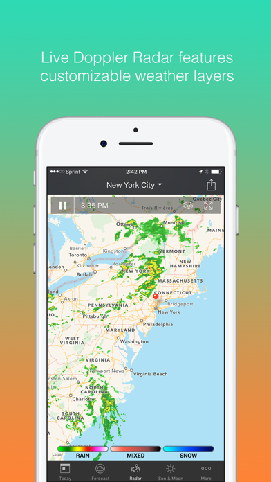 1Weather: Forecast and Radar Screenshot on iOS