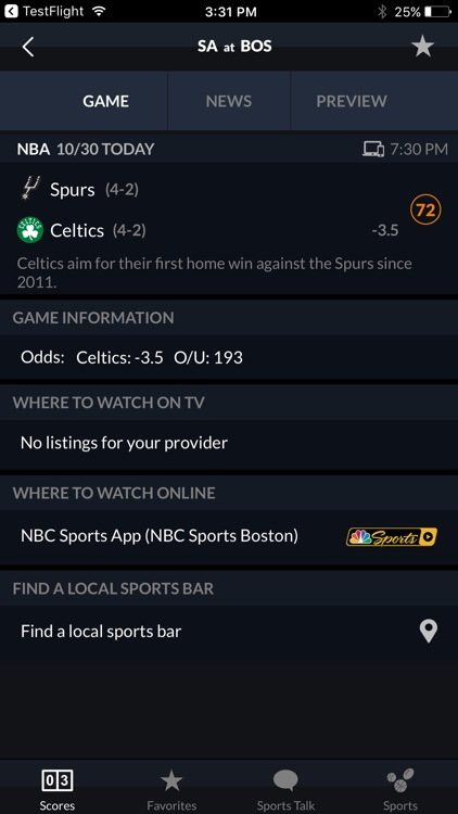 NBC Sports Scores screenshot-3
