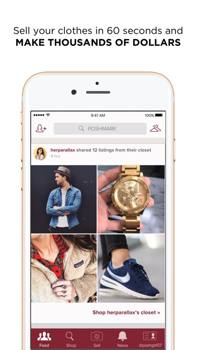 Poshmark app data review shopping apps rankings for Apps similar to poshmark