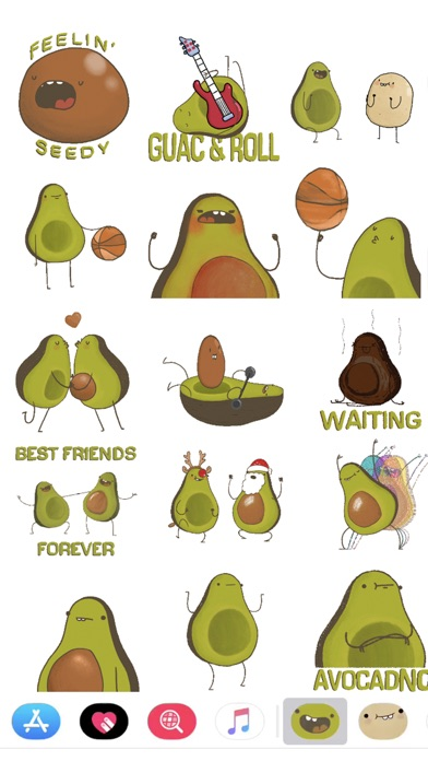 Screenshot #10 for Avocado Stickers