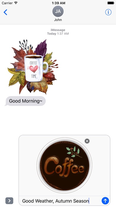 Autumn Love - Coffee & Flower & Quotes screenshot 2