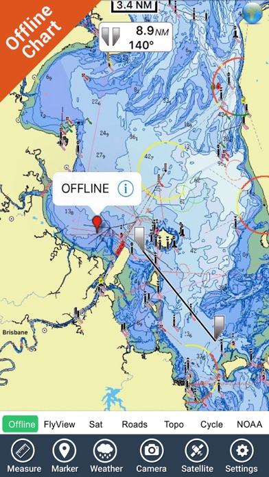 Brisbane Nautical Chart HD GPS screenshot four