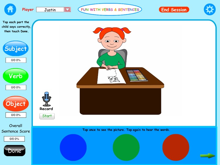 Fun with Verbs & Sentences HD screenshot-4