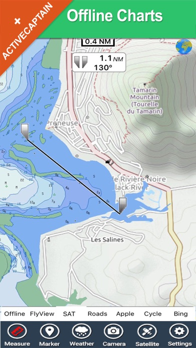 Boating Mauritius HD GPS Chart screenshot two