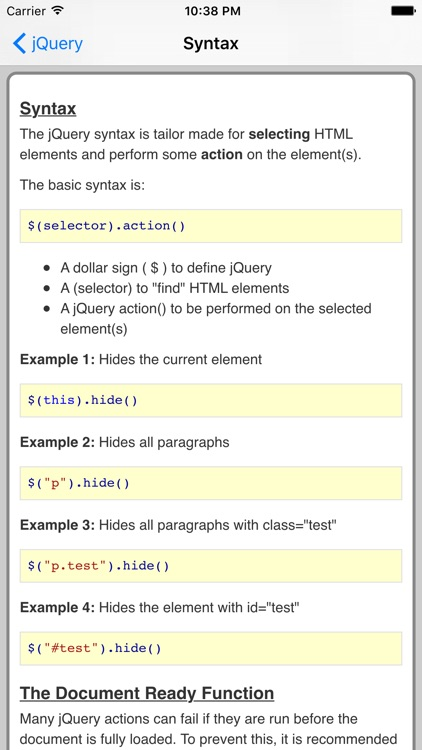 jQuery Pro Quick Guide screenshot-2