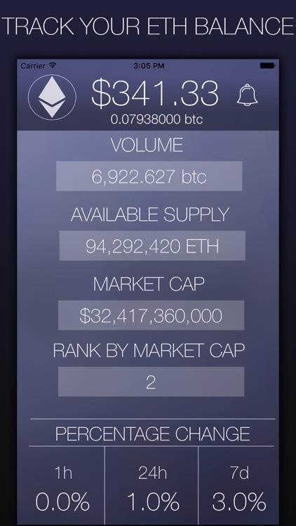 My Ethereum - CryptoCurrency Market Data screenshot-3