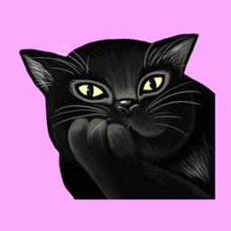 Black Cat Animation Stickers