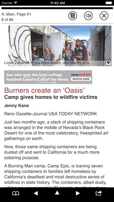 Reno Gazette-Journal Print Screenshot on iOS
