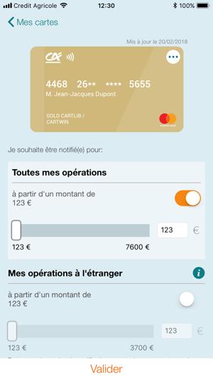 Ma carte ca dans l app store - Plafond carte maestro credit agricole ...