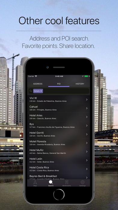 Argentina Offline Navigation Screenshot