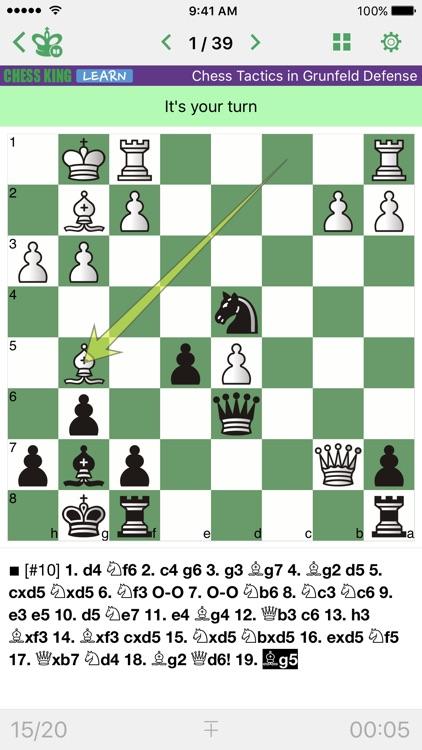 Chess Tactics. Grunfeld Def.