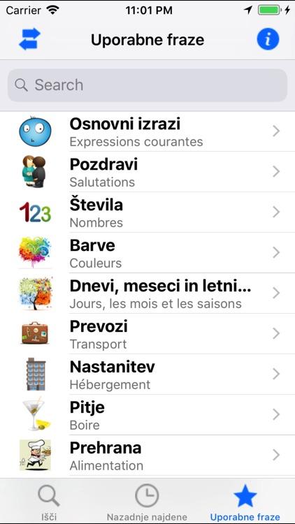 Dictionnaire Français Slovene screenshot-3
