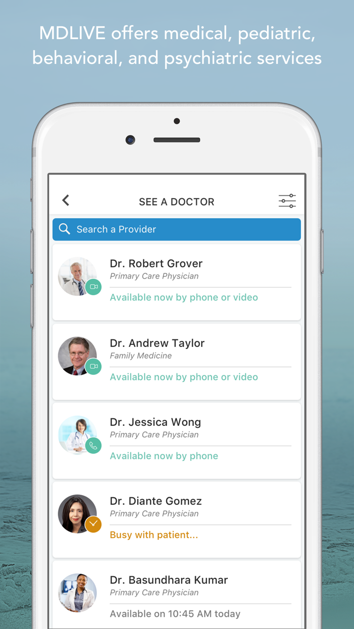 MDLIVE: Talk to a Doctor 24/7 Screenshot