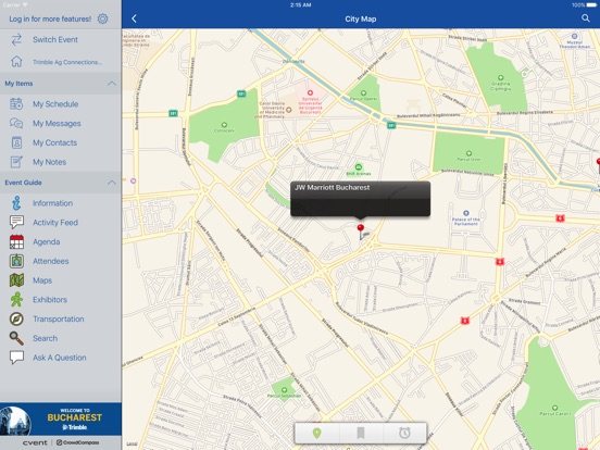 iPad Image of Trimble Events