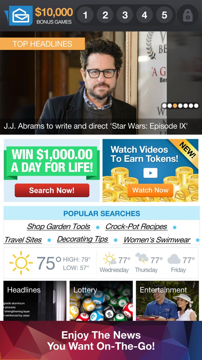 PCH Frontpage Screenshot