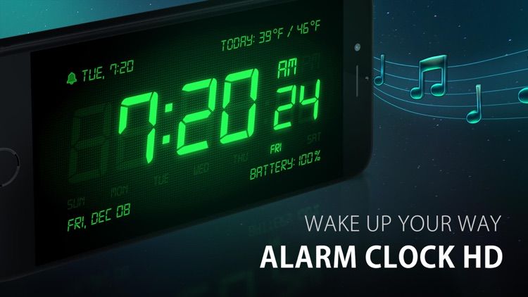 Alarm Clock HD - Music Alarms screenshot-0