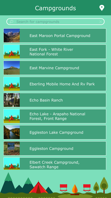 Colorado Campgrounds Guide screenshot two