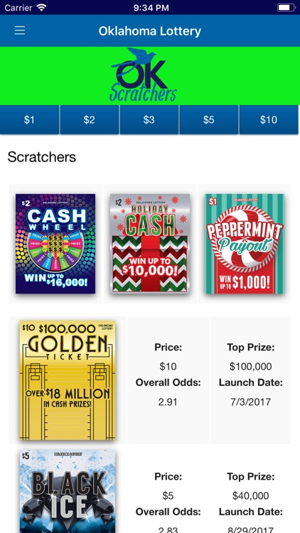OK Lottery App by Oklahoma Lottery Commission