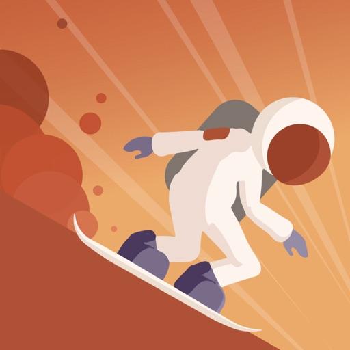Mars Surfing Icon