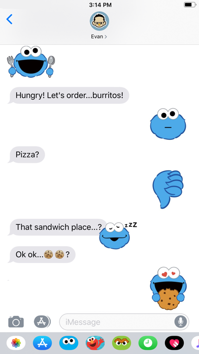 Cookie Monster Stickers screenshot four