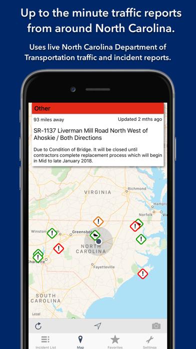 Screenshot for North Carolina Roads Traffic in Kazakhstan App Store