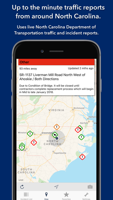 Screenshot for North Carolina Roads Traffic in Egypt App Store