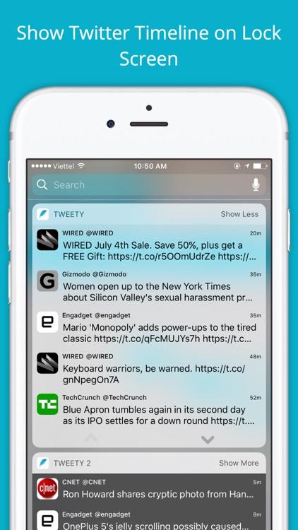 Tweety - Show Twitter Timeline on Lock Screen