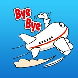 Happy Airplane Emoji Sticker