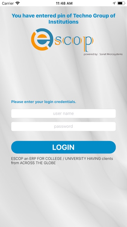eSCOP Admin App by Sonet Microsystems Private Limited