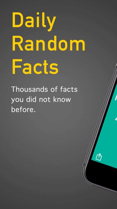 Screenshot for Daily Random Facts in United States App Store