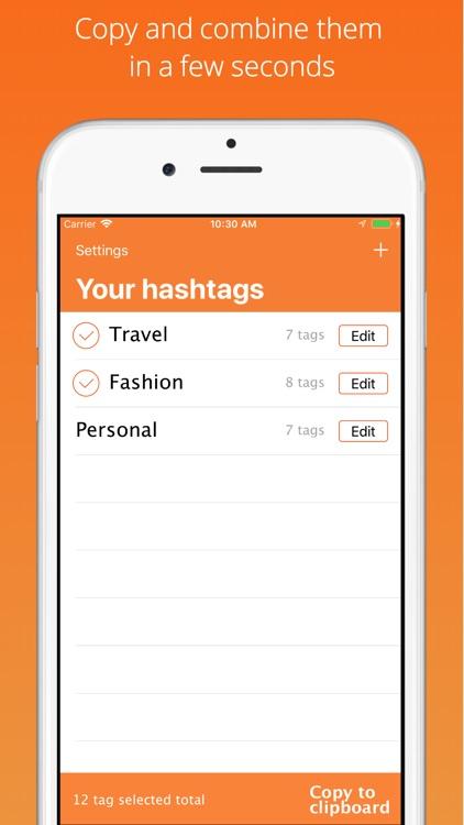 Hashtag Helper for Instagram